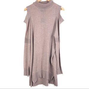 FATE BY LFD dress Medium cold shoulder tan d2011